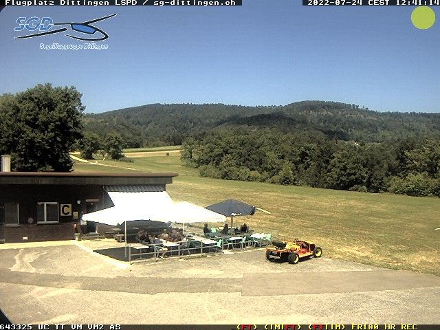 Webcam Flugplatz Dittingen